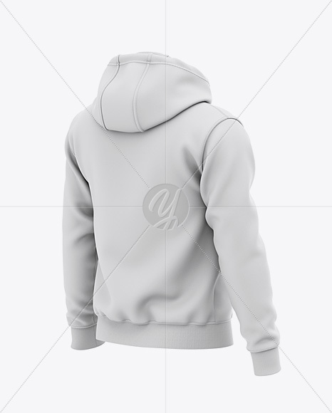 Download Mens Heavyweight Hoodie Mockup Back Half Side View Yellowimages