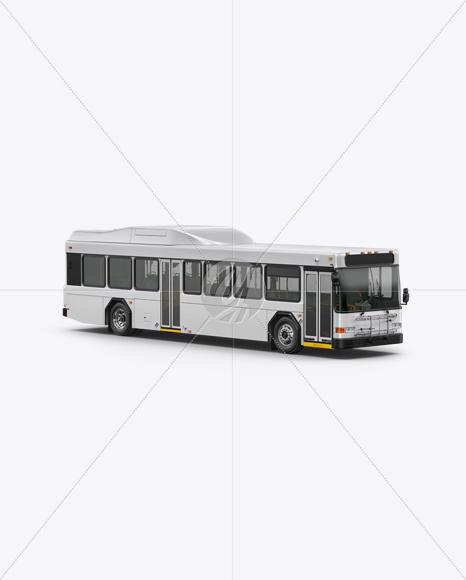 Hybrid Bus Mockup - Half Side View