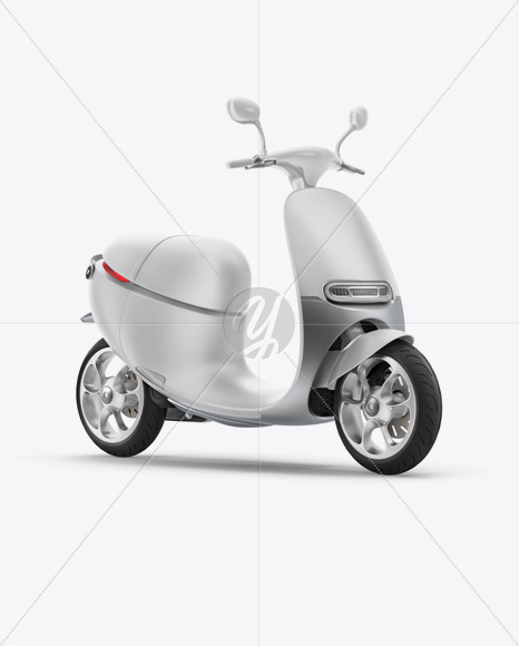 Scooter Mockup - Half Side View