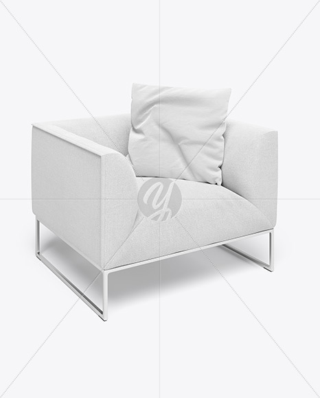 Chair With Pillow Mockup
