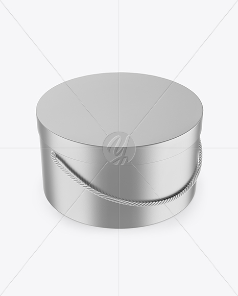 Download Matte Metallic Round Box Mockup In Box Mockups On Yellow Images Object Mockups PSD Mockup Templates