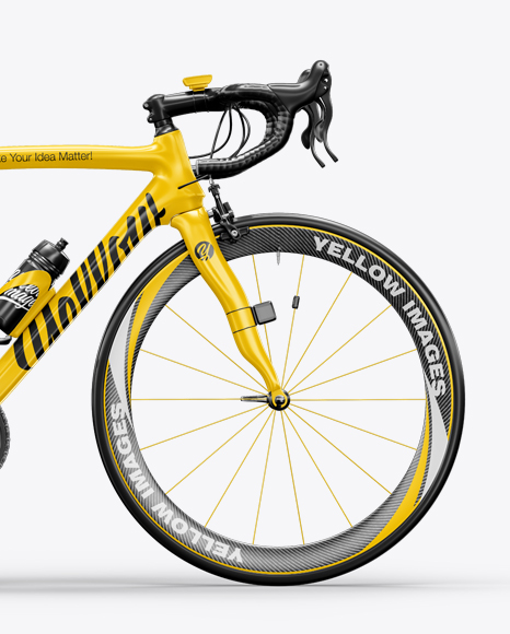Road Bicycle Mockup - Right Side View