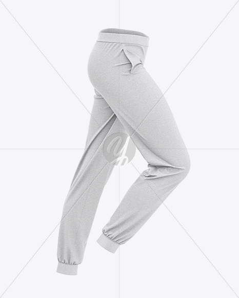 Women's Heather Cuffed Joggers - Side View