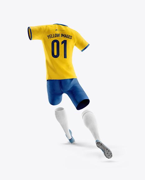 Men's Full Soccer Team Kit Mockup - Back View