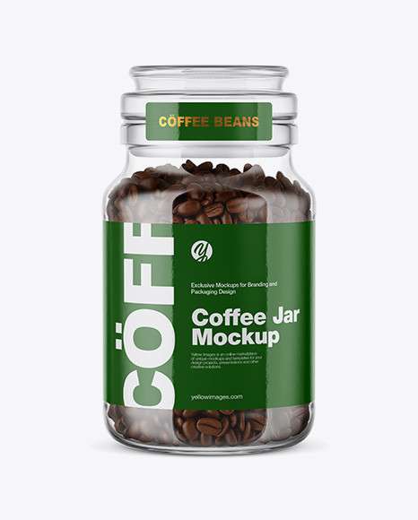 Coffee Beans Glass Jar Packaging Mockups - Download Free