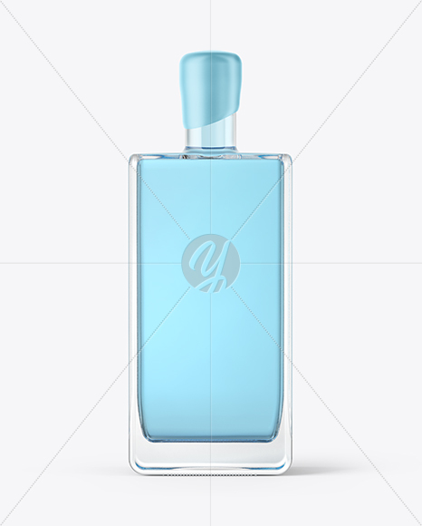 Square Gin Bottle with Wax Mockup