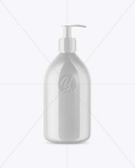 Download Cosmetic Bottle With Pump Mockup PSD - Free PSD Mockup Templates