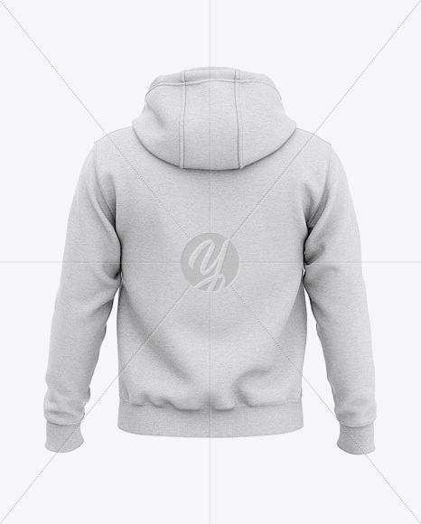 Men's Heather Pullover Hoodie - Back View