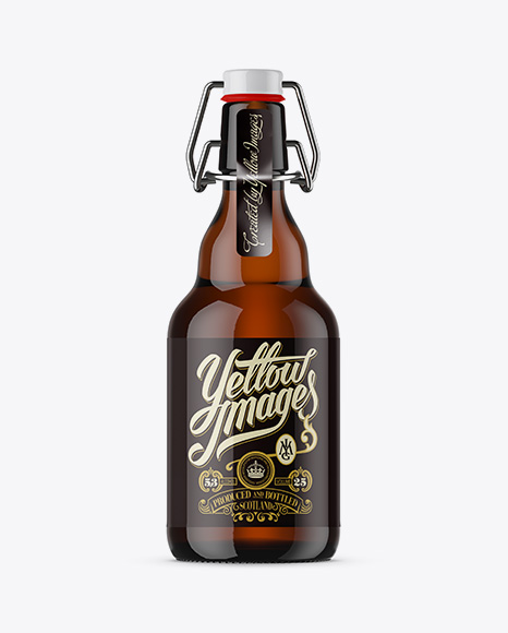 330ml Amber Glass Beugel Bottle Mockup