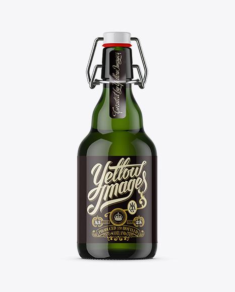 330ml Green Glass Beugel Bottle Mockup