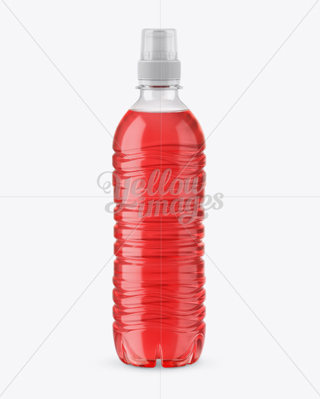Download Clear Pet Bottle With Sport Cap Mockup In Bottle Mockups On Yellow Images Object Mockups Yellowimages Mockups