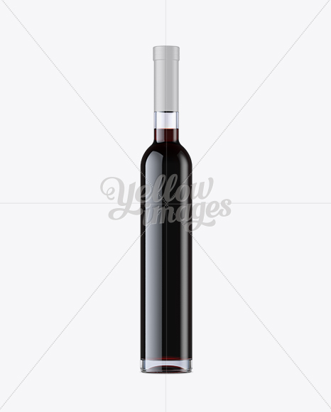 Download Clear Glass Bottle With Red Wine Mockup Front View PSD - Free PSD Mockup Templates