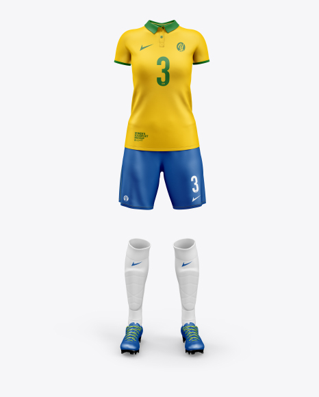 Download Women S Full Soccer Kit Mockup In Apparel Mockups On Yellow Images Object Mockups PSD Mockup Templates