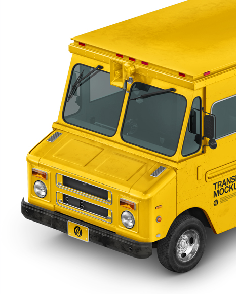 Foodtruck Mockup - Half Side View (High-Angle Shot)
