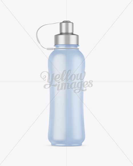Frosted Sport Bottle Mockup - Front View