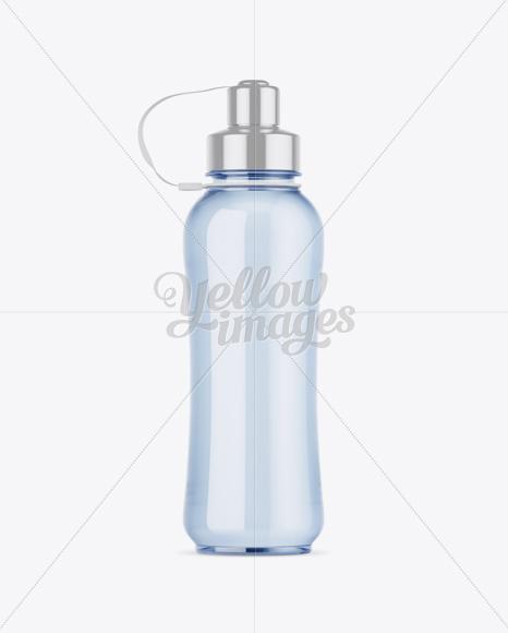 Clear Sport Bottle Mockup - Front View