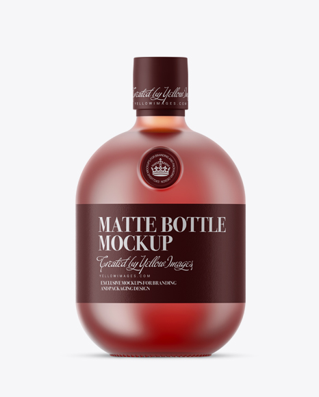 Download Frosted Glass Bottle With Pink Liquor Mockup In Bottle Mockups On Yellow Images Object Mockups PSD Mockup Templates