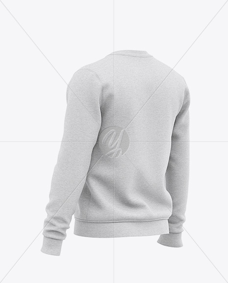 Download Mens Heather Hoodie Mockup Back Half Side View Yellowimages