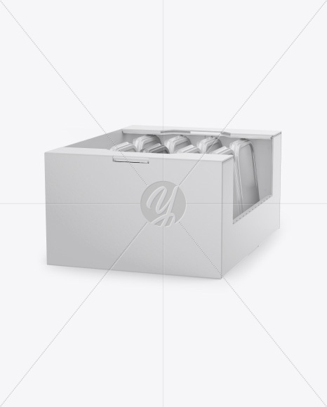 Display Box With Containers Mockup