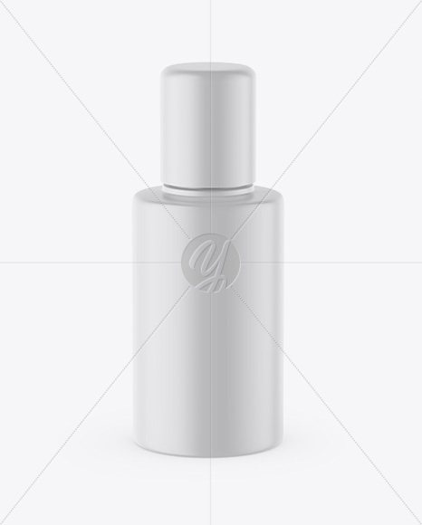 Glossy Cosmetic Bottle With Pump Mockup High Angle Shot
