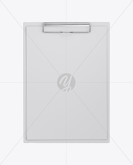 Clipboard With Paper Mockup