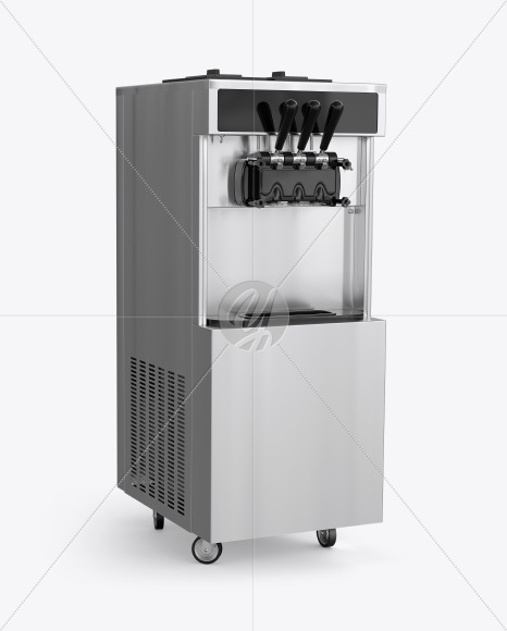 Ice Cream Machine Mockup - Half Side View