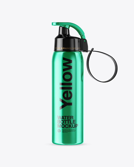 Metallic Sport Bottle Mockup