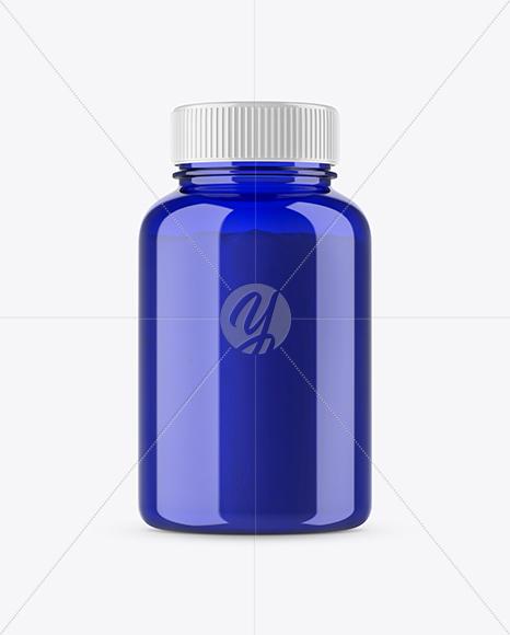 Blue Bottle with Powder Mockup