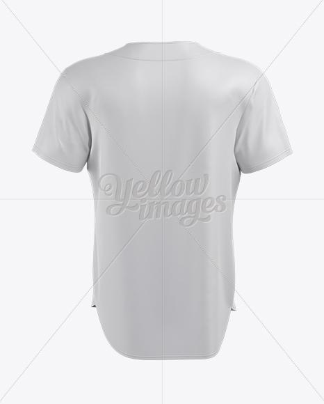 Download Mens Baseball Jersey Mockup Back View Baseball T Shirt Yellowimages
