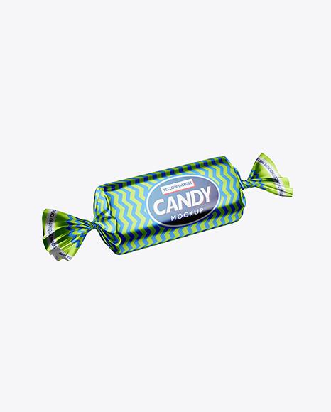 Metallic Candy Package Mockup