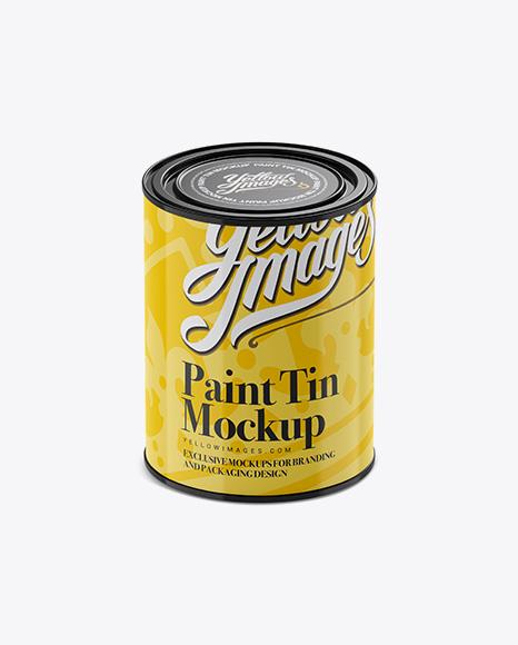 1L Paint Tin Mockup
