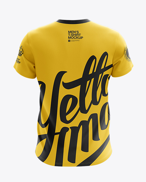 Download Men S V Neck T Shirt Mockup Back View In Apparel Mockups On Yellow Images Object Mockups Yellowimages Mockups
