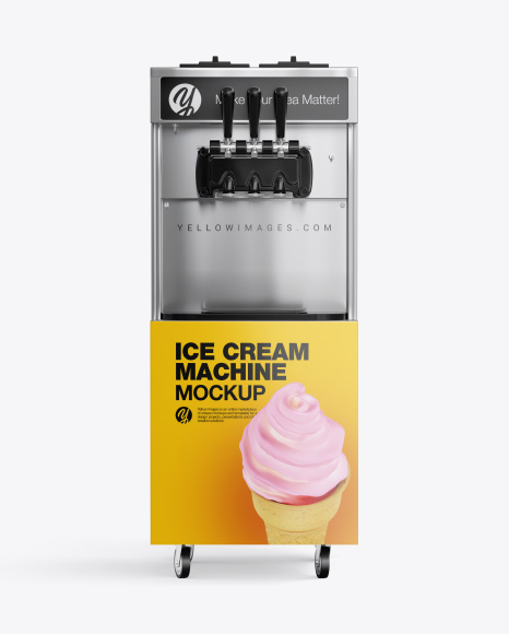 Ice Cream Machine Mockup - Front View