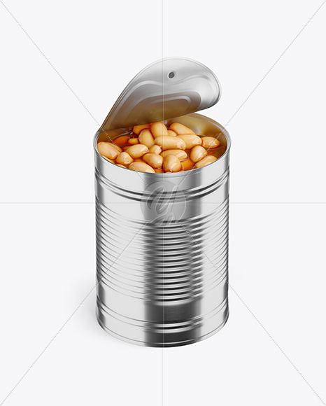 Food Can w/ White Beans Mockup