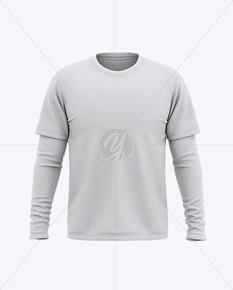 Download Mens Long Sleeve T Shirt Mockup Yellow Images