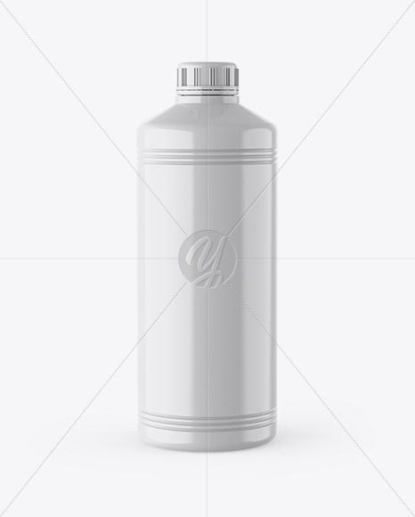 Download Glossy Plastic Bottle With Dark Drink Mockup PSD - Free PSD Mockup Templates