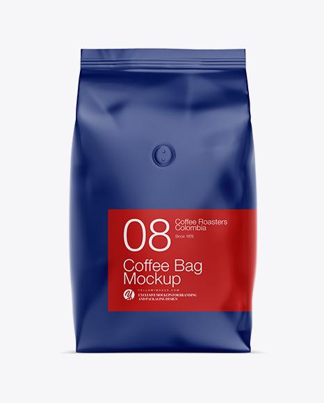 1kg Matte Coffee Bag Psd Mockup Rice Bag Mockup Psd Free Download