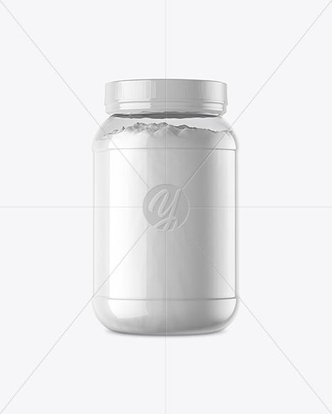 Clear Jar with Powder Mockup