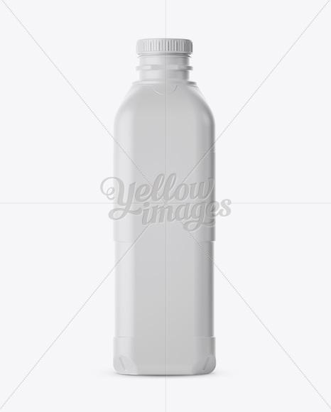Matt Plastic Milk Jug Mockup - Front and Back Views