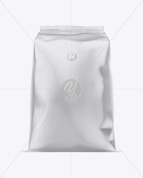 1kg Glossy Coffee Bag Mockup
