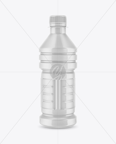 Plastic Bottle with Shrink Sleeve Mockup