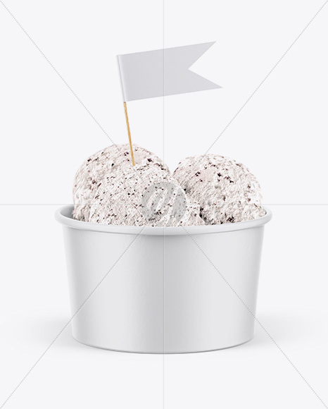 Paper Ice Cream Cup Mockup