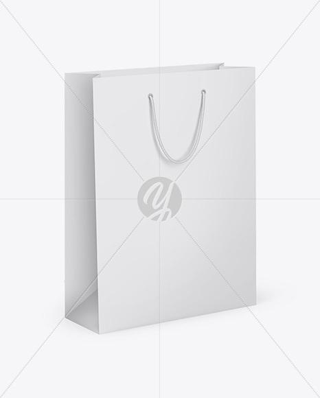 Matte Shopping Bag - Half Side View