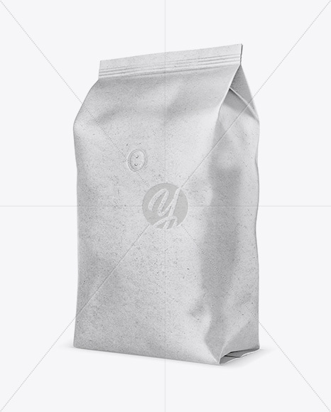 Download 1kg Kraft Paper Coffee Bag Mockup In Bag Sack Mockups On Yellow Images Object Mockups PSD Mockup Templates