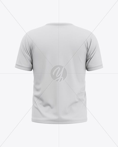 Download Men S Short Sleeve T Shirt Mockup Back View In Apparel Mockups On Yellow Images Object Mockups PSD Mockup Templates