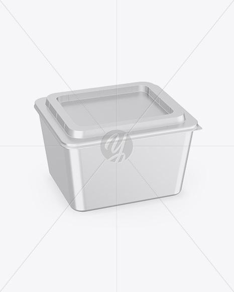 Metallized Plastic Container Mockup