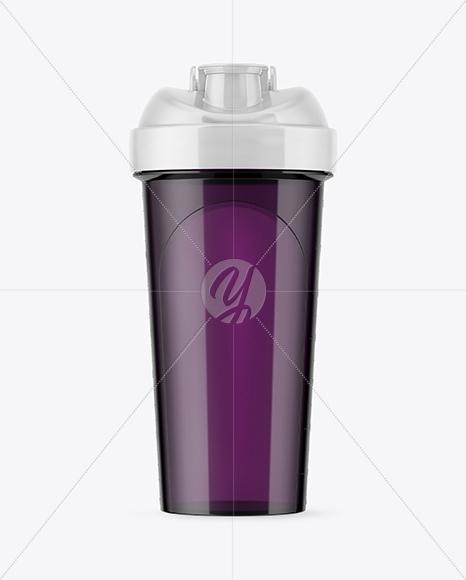 Plastic Shaker Bottle Mockup