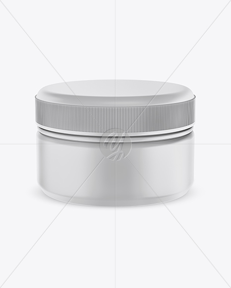 Download Matte Cosmetic Jar With Metallic Cap Mockup Front View PSD - Free PSD Mockup Templates