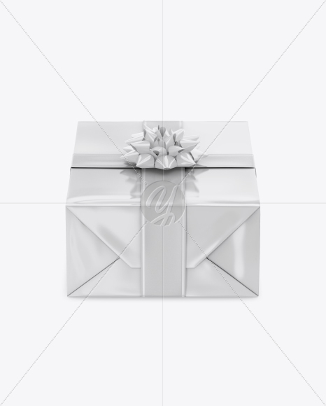 Download Matte Metallic Gift Box With Glossy Bow Mockup PSD - Free PSD Mockup Templates