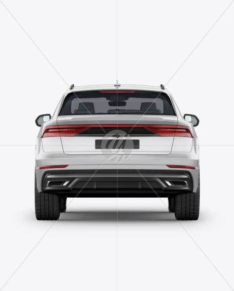 Luxury Crossover SUV - Back View